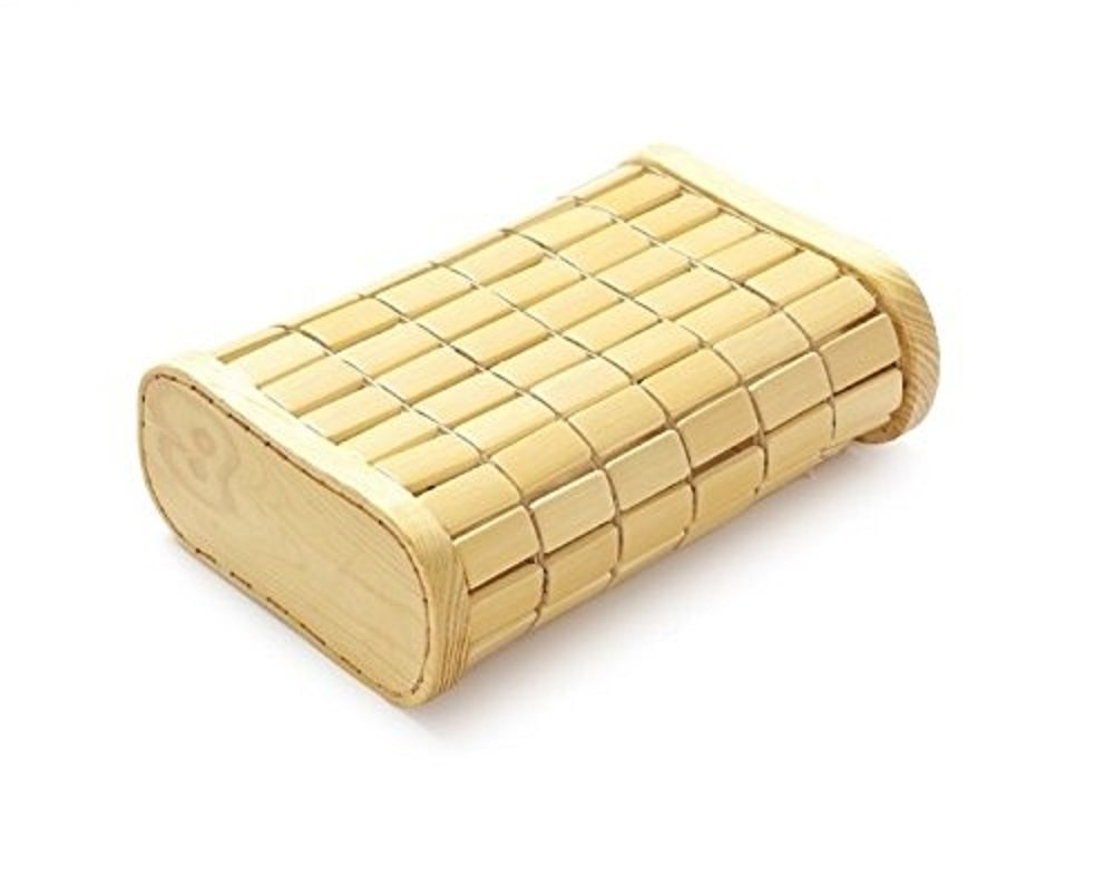 Bamboo Block Style 13 x 6.6 x 3.1 inches Rectangular Bed Pillow From Japan