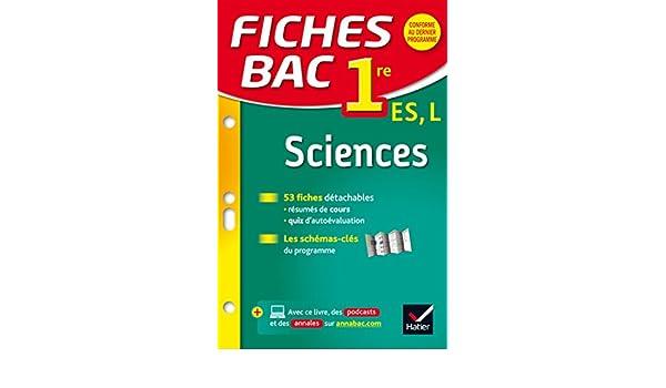 Fiches bac Sciences 1re ES, L: fiches de révision - Première ES, L: Amazon. es: Alain Le Grand, Bruno Semelin, Isabelle Bednarek-Maitrepierre: Libros en ...