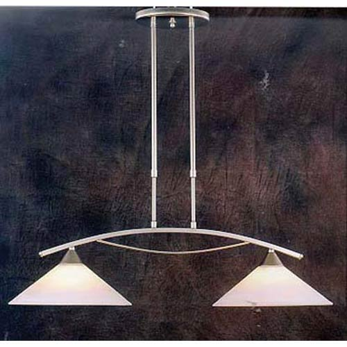 Elk Lighting Elysburg 2 Light Kitchen Island Pendant in Nickel (Elysburg 2 Light)