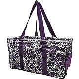 Purple Paisley NGIL Utility Tote Shopping Bag