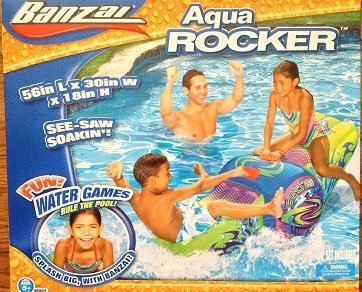 Banzai Aqua Rocker Inflatable Pool See-saw ()