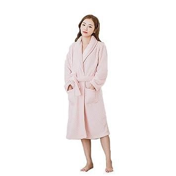 BCL-Ropa de dormir Bata para Mujer Pijamas para El Hogar Mujeres Corallo Vello Albornoz (Color : Pink, Tamaño : Metro): Amazon.es: Hogar