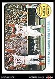 1973 Topps # 208 1972 World Series - Game #6 - Reds' Slugging Ties Series Johnny Bench/Denis Menke/Bobby Tolan Oakland/Cincinnati Athletics/Reds (Baseball Card) Dean's Cards 4 - VG/EX Athletics/Reds