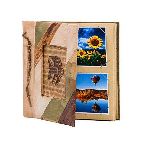DK Hawaiian Collections Natural Banana Leaf Notebook Style Photo Album (Small, - Frame S2