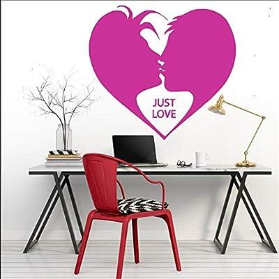 Ajcwhml Sencillas Frases de Amor Decorativas murales de Vinilo de Pared de diseño 42X37CM: Amazon.es: Hogar