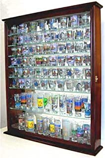 Amazon.com: 41 Shot Glass Display Case Holder Cabinet Wall Rack ...