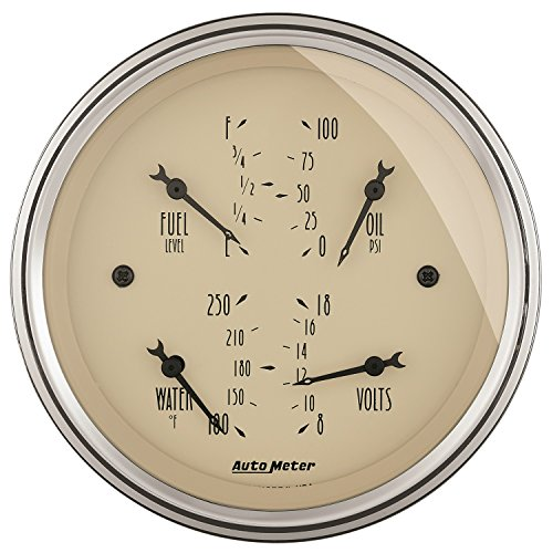 Auto Meter 1814 Antique Beige Quad Gauge