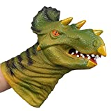 GBSELL Animal Hand Puppet Plush Toy Silica Gel Spoof Toys for Kid Educational (E)
