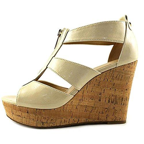 MICHAEL Michael Kors Womens Damita Leather Open Toe Casual, ECRU, Size 6.5 by MICHAEL Michael Kors