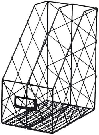 AGWa Aktenregale/Aktenhalter, einfaches Metall-Aktenregal Bürobedarf Display-Rack Desktop Grid Buchmagazin Aufbewahrungsbox Regal Block Anti-Rutsch-Rahmen