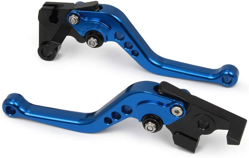 JFG RACING Motocicletta Breve Leve Freno Frizione CNC in Alluminio Regolabile per Yamaha FJR 1300 2003,Blue