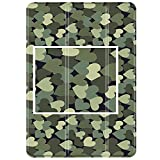 TNP iPad Air 1 Case - Slim Lightweight Shell Smart Cover Stand, Hard Back Protection with Auto Sleep Wake for Apple iPad Air 1 (Green Camouflage Heart)