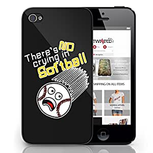 Black Cover For iPhone 6 No Crying In Softball Funny Cool Mobile Phone Case