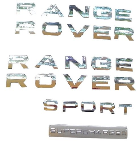 Range Rover Sport Supercharged (RC Trading chrome letters emblems badge Insignia 2006-2013 front rear fits Range Rover Sport Supercharged)