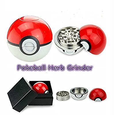 Perfect Lily Pokemon Grinder Pokeball Grinder Tobacco Spice Herb Grinder, Plant & Food Grinder With Pollen Catcher from Perfect Lily