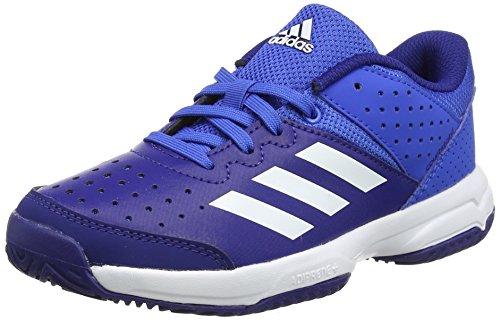 adidas Unisex-Kinder Court Stabil Jr Handballschuhe Rot (Blue/ftwr White/mystery Ink )
