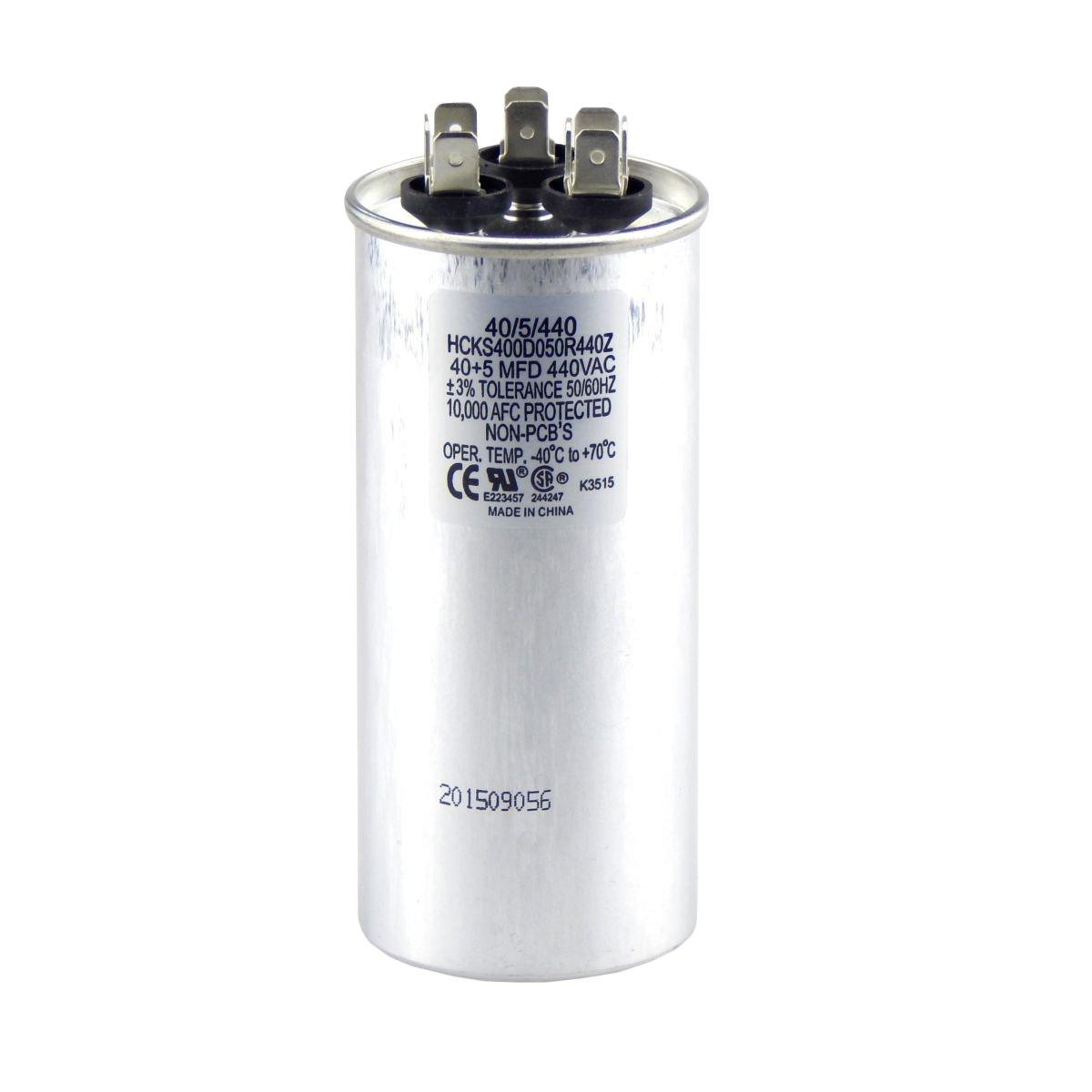 40 5 Mfd Multi Purpose 440 Or 370 Volt Round Run Capacitor Ac Motor Wiring Diagram Replacement Tradepro Everything Else