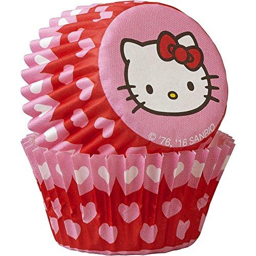 Wilton 415-7622 Hello Kitty Mini Baking Cups (100 Pack), Multicolor (Valentine Cupcake Liners Mini compare prices)