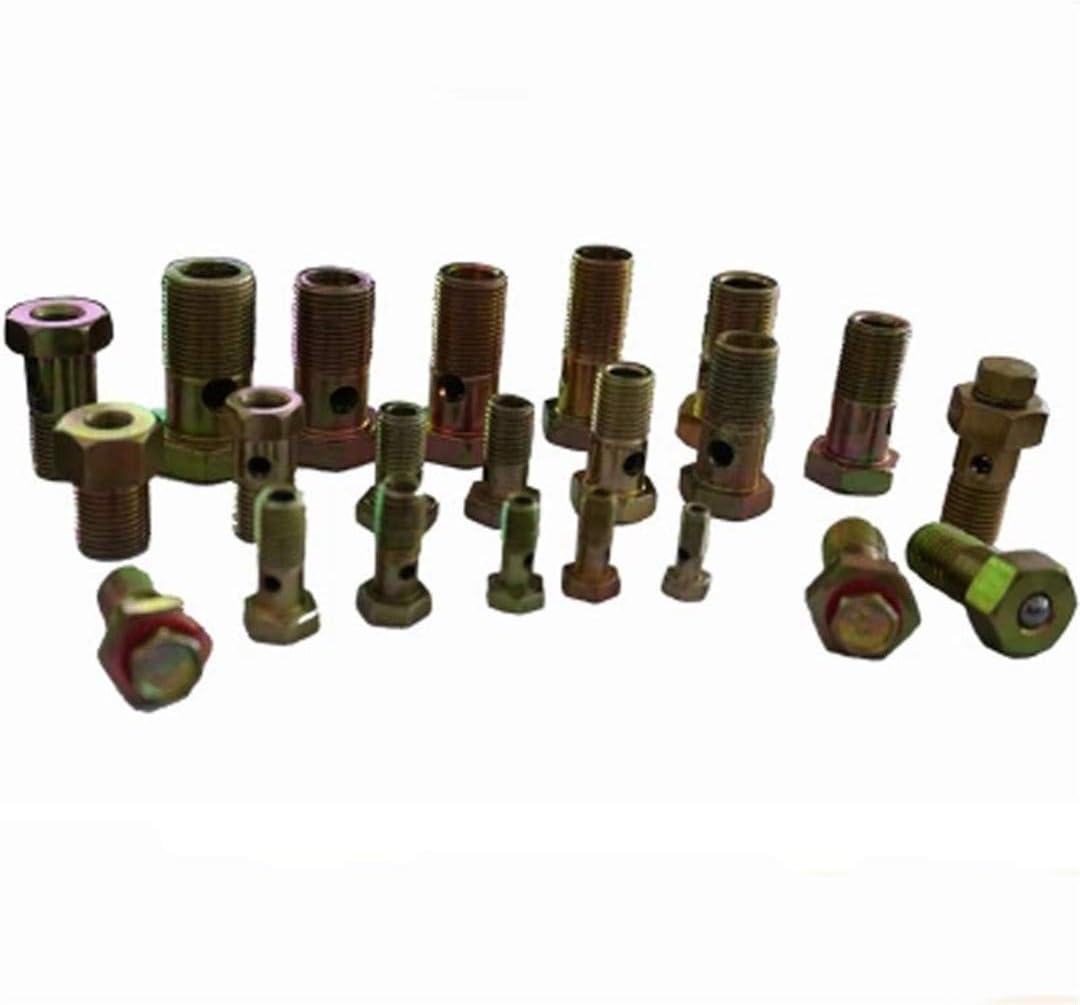 M6 M8 M10 M12 Hohlschraube einzelne Loch-Sechskantschraube Sechskantschrauben 10x1.25x28mm 5pcs