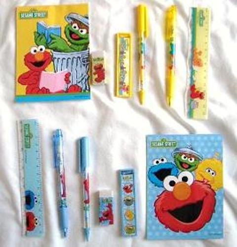 (12 Stationery Set Disney Pixar Nickelodeon Children Birthday School Party Favors Bag Filler (Elmo))