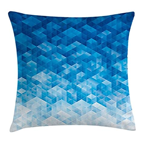 Geometric Throw Pillow Cushion Cover by Ambesonne, Geometric Gradient Digital Texture with Mosaic Triangle Pixel Graphic Print Art, Decorative Square Accent Pillow Case, 20 X 20 Inches, Light - Mosaic Outdoor Rug