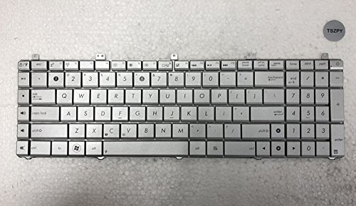 New For Asus N55 N55X N55S N55SF N55SL N75S N75SF N75SL US Silver replacement keyboard MP-11A13US69202