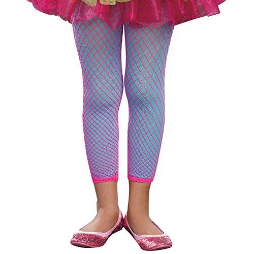SugarSugar Mixin' It Up 3-in-1 Leggings, Hot Pink-Turquoise, Medium/Large