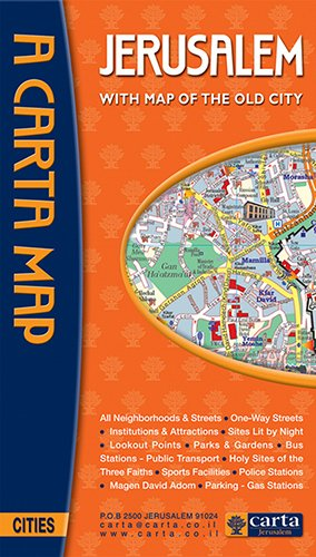 Download A Carta Map Jerusalem: With Map of the Old City ebook