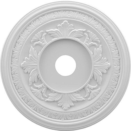 Ekena Millwork CMP19BA Baltimore Thermoformed PVC Ceiling Medallion, 19