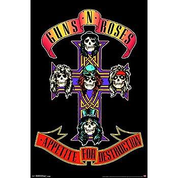 Guns N Roses Circle and Flames Large Fabric Poster 44 x 30 VD-HFL1116 hr