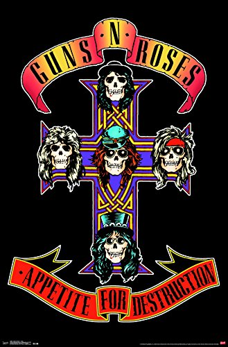 Trends International Guns N' Roses - Cross Premium Wall Poster, 22.375