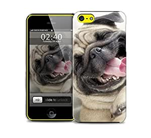 funny pug iPhone 5c protective phone case