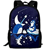 Backpack Narwhal Penguin Feed Womens Laptop