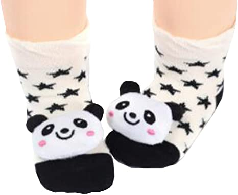 2 pares [Panda] bebés y niños pequeños calcetines de algodón ...