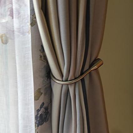 Yeexue Curtain Holdback U Arm Hook Metal Drape Tieback One Pair Antique Brass