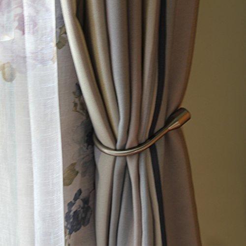 Yeexue Curtain Holdback U Arm Hook Metal Drape Tieback (One Pair, Antique Brass)
