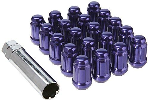 Muteki 41886L Purple 12mm x 1.5mm Closed End Spline Drive Lug Nut Set with Key, (Set of 20) by MUTEKI (Image #3)
