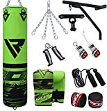 RDX 14 Piece Boxing Set 5FT Filled Heavy Punch Bag Gloves Bracket Chains MMA Punching Bags Training
