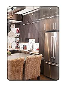 High-end Case Cover Protector For Ipad Air(eclectic Kitchen With Island Seating)