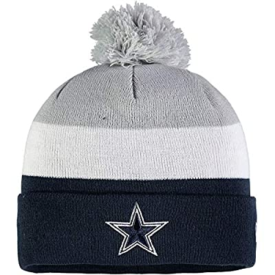 New Era Dallas Cowboys Tri-Block Gray/Navy/White Sport Knit Beanie Unisex Hat, OSFM