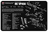 TekMat Heckler & Koch VP9SK Gun Cleaning Mat / 11'' x 17'' / 3mm Thick, Durable, Waterproof/Handgun Cleaning Mat with Parts Diagram and Instructions/Armorers Bench Mat/Black