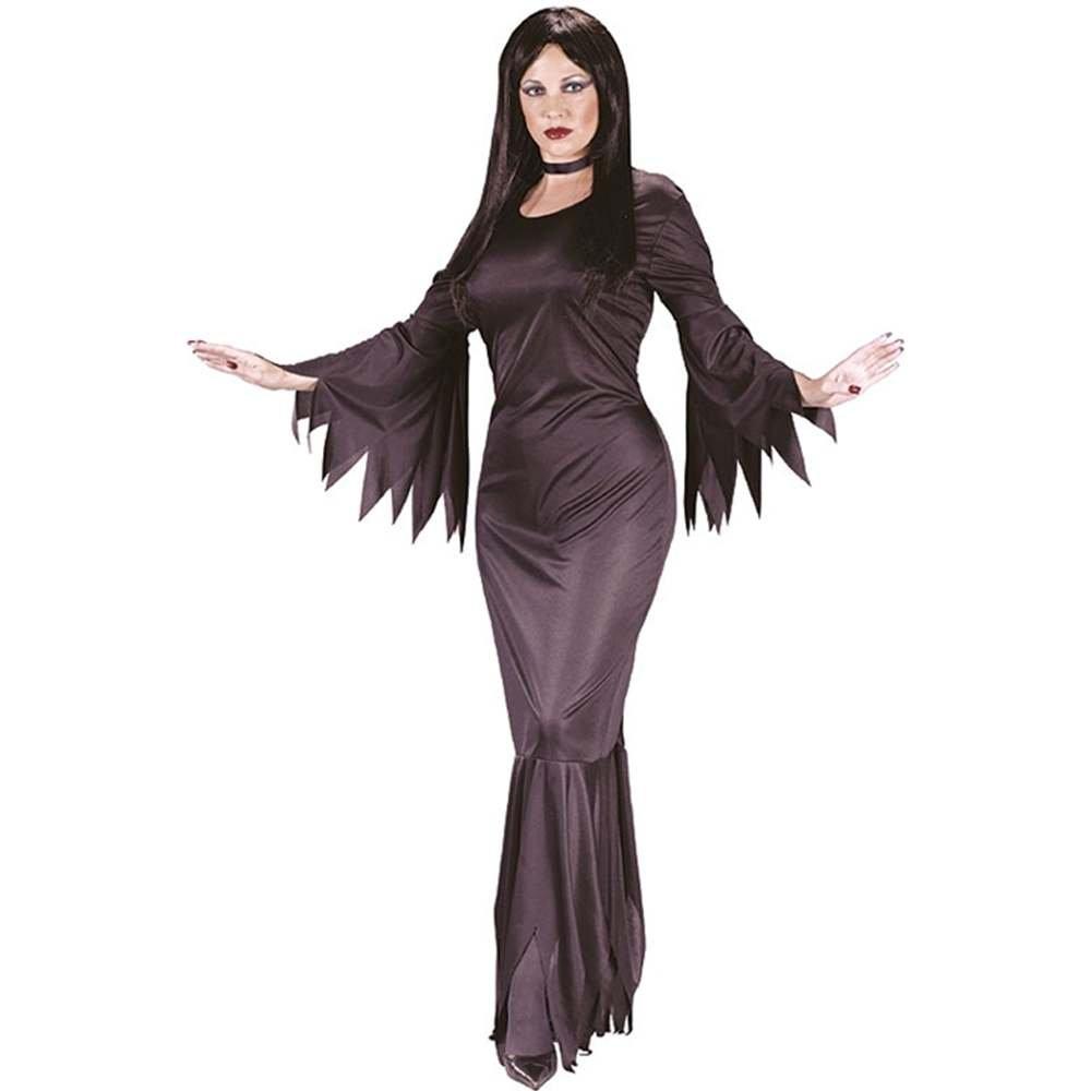 sc 1 st  Amazon.com & Amazon.com: Fun World Madam Morticia Black One Size Costume: Clothing