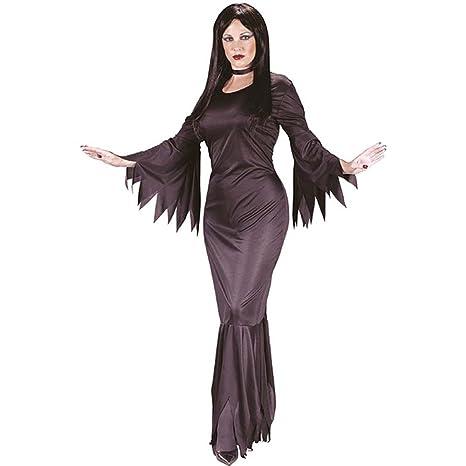 sconto di vendita caldo garanzia di alta qualità orologio costume donna sexy morticia taglia unica Include SOLO VESTITO