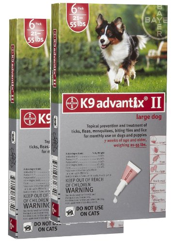 12 MONTH K9 ADVANTIX Red (for dogs 2155lbs) by K-9 Advantix