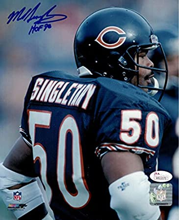 buy online 190a0 263c9 Mike Singletary Autographed/Signed Chicago Bears 8x10 Photo ...