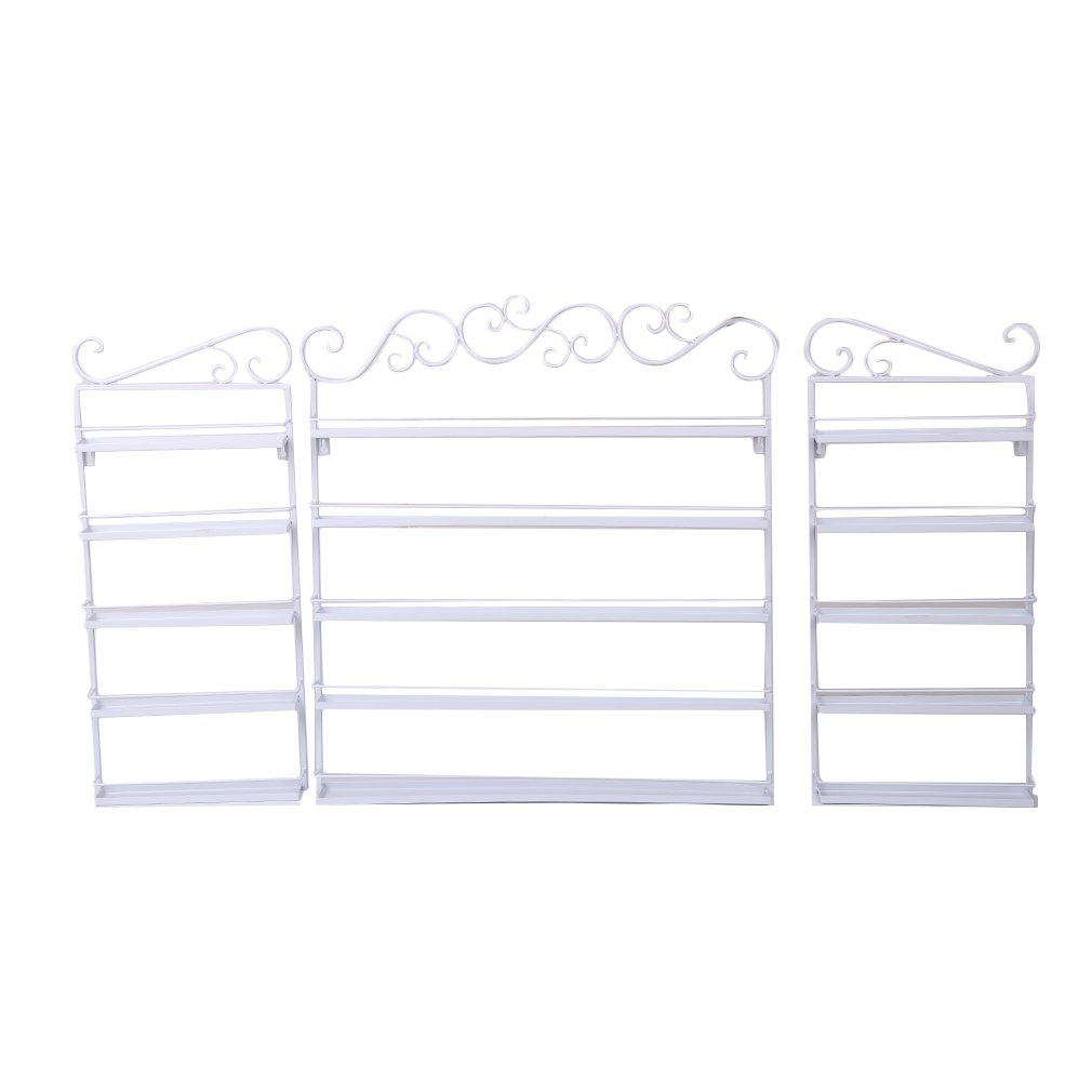 Nail Polish Wall Rack Organizer, 5 Layers Durable Oil Bottle Storage Holds 180 Bottles Nail Polish Shelf 3 in 1 (White)