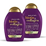 OGX Thick & Full + Biotin & Collagen Shampoo & Conditioner Set, 13 Ounce