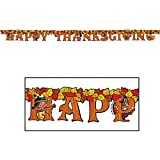 Happy Thanksgiving Streamer 5in. X 6ft. Party Accessory (1/pkg) Pkg/3