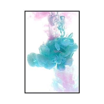 ZUEN Arte Pintura al óleo Simple nórdica Color Abstracto ...