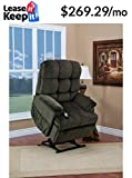 Med Lift 5555 Full Sleeper Lift Chair (Cabo Sage Fabric)